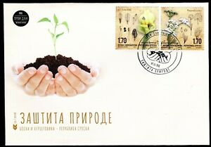 BOSNIA SERBIA(445) - Protection of Nature - Flowers - Flora - FDC - 2018