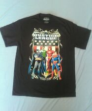 New Men's L Justice League Short Sleeve T-shirt Batman,Green Lantern, Flash, Sup