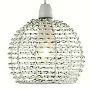 Lighting Collection Modern Twisted Design Metal Easy Fit Ceiling Pendant Small