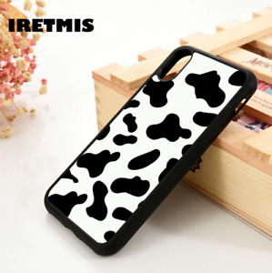 Cow Print Protective iPhone Phone Case Cover Silicone Aesthetic TPU X XS 7 8 1