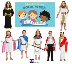 EGYPTIAN BOOK WEEK COSTUMES Ancient Historic Fancy Dress Kids Child Outfit UK