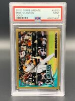 Mike Giancarlo Stanton 2010 Topps Update Gold #US50 PSA 9 Mint RC