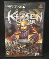 Kessen   PS2 Playstation 2 COMPLETE Game 1 Owner Near Mint Disc