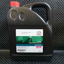 GENUINE TOYOTA PRIUS PINK COOLANT ANTIFREEZE 5L PRE MIXED READY SUPER LONG LIFE
