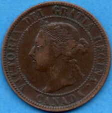 Canada 1895 1 Cent One Large Cent Coin - F/VF