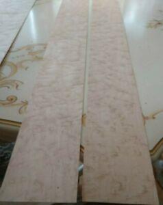 "Birdseye maple veneer 38 3/4"" x 4 1/2"" each flat 2 pieces raw 1/42"""