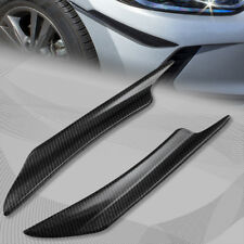 JDM Cars Carbon Style Front Bumper Splitters Fins Body Spoiler Canards Universal
