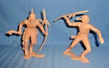 "2 Vintage Marx 6"" Indian Figures"