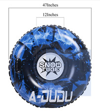 """A-DUDU Snow Tube - Super Big 47"""" Inflatable Snow Sled with Rapid Valves"""