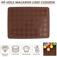 48Holes Silicone Baking Mat Large Macaroon Pastry Dessert Decorating Moulds AU