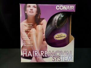 NEW, Conair Painless Hair Removal System With Travel Pouch Item Sealed. Mint.