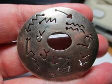 Southwest Symbols 1.75 Inch Pin Brooch Sterling Silver 925 Estate Vintage Taxco