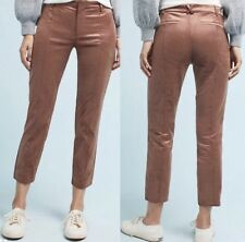 NWT Anthropologie The Essential Slim Velveteen Pants Trousers in Copper 10