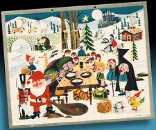 Vecchio Calendario Avvento 1960 Originale > Das Incontro il Favola Stars >