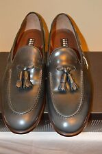 Fratelli Rossetti Grey Leather Tassel Loafers Size 10 (UK 9) Magnanni