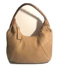Auth Fendi Tan Leather Spy Hobo Bag
