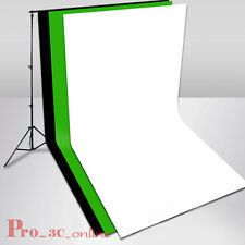 3mx6m Black White Green Muslin Cotton Backdrop Free 2.8mx3m Background Stand Kit