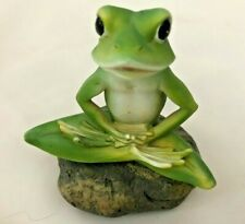 "Humor Green 4.5"" Frog with Legs Crossed Figurine"