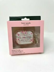 NEW Kate Spade NY Protective Case for Apple AirPods Pro Spring Garden Pink Clear