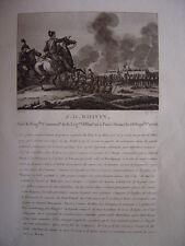 Gravure du Général BOIVIN  Affaires de Vic Parthenay Neu-Isembourg Mont Tental