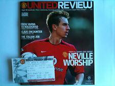 Mint 2002/03 Manchester United v Bayer Leverkusen CH LGE mit Ticket
