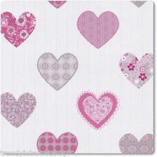 Tapete Kinderzimmer PS Happy Kids 05583-10 Herz Herzen weiß rosa grau