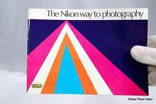 Nikon F camera Way to Photography system brochure booklet Guide Genuine (EN)