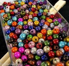 LOT 100 Perles MAGIQUES  - Diam: 6mm   RONDES  - MIX COULEURS # K24