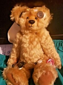 """MARTHA BURCH BEARY PATCH BEAR """"BUTTINA"""" 10 INCHES FULLY JOINTED MOHAIR NR"""