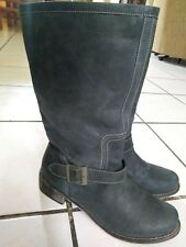 Boots 'N Bags Ladies Navy Leather Cowboy Boots Size 37 Made In Columbia NWOB