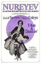 I Am A Dancer original 1973 one sheet movie poster Rudolf Nureyev/Margot Fonteyn