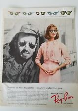 1959 Ray-Ban women's cateye sunglasses worn in Antarctic u.s. Navy ad