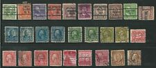 Usa: Lot of 25 stamps with perfins and precancel, some val. details used. US548