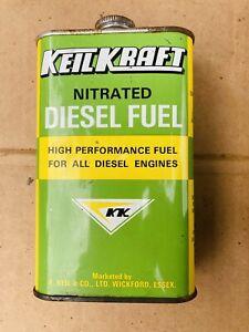 Vintage Keil Kraft Nitrated Diesel Fuel Can KeilKraft Model Diesel Engines Full