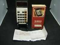 Vintage TI 1200 Calculator TI-1200 Texas Instruments WORKS With Original Box