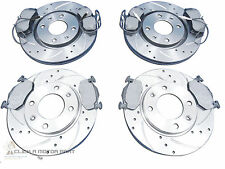 PEUGEOT 306 HDi FRONT & REAR DRILLED GROOVED BRAKE DISCS & MINTEX PADS