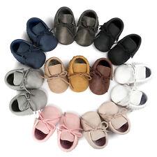 Bebé Recién Nacido Bebé Niño Niña Borlas Zapatos Cuna Piel antes de Andar Suave