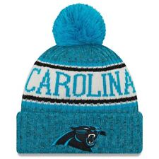 Carolina Panthers New Era 2018 Sideline Cuffed Pom Knit Beanie Hat 5639a84b5