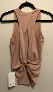 NWT Lululemon Size 4 All Tied Up Tank Open Back Tie PNPA Pink Pastel Mauve