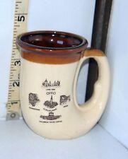 Novelty Unique Shaped Souvenir Ohio Ceramic Brown & White Coffee Cup/Mug