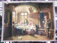 dipinto a mano classico olio su tela di lino grande 90x120 vari soggetti nuovo