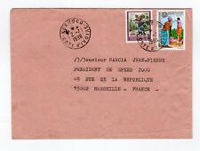 CÔTE D'IVOIRE 2 timbres sur lettre tampon 1996 Korhogo /L891