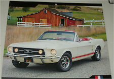 1967 Ford Mustang GT Convertible car print (white, no top)