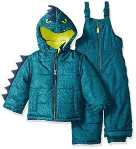 Carter's Boys Two-Piece Dinosaur Snowsuit Size 2T 3T 4T 4 5/6 7