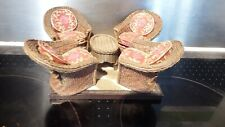 doll house furniture 4x resin wicker chairs/table and floor 1.12th