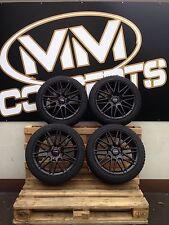 17 pouces hiver complètement roues 225/45 r17 pneus hiver Jantes Noir BMW M 1er 3er