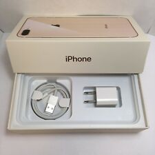 IPHONE 8+ Plus  EMPTY RETAIL BOX AND NEW ACCESSORIES plug charger manual sim