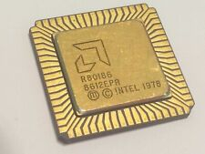 AMD R80186 FLAT PACK GOLD CERAMIC CHIP COLLECTABLE VINTAGE PROCESSOR    fba10a53