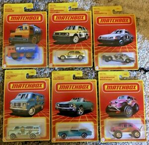 2021 MATCHBOX RETRO SERIES FULL 3RD WAVE  6 CAR LOT  HARD TO FIND TARGET EXC