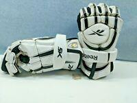 Reebok 5K Protective Gloves Hockey / Lacrosse (Sz M) White and Black FREE SHIP!